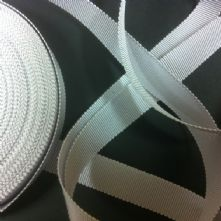 White Milliner's Petersham Ribbon in 2 Widths